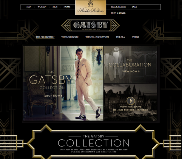 Great Gatsby at Brooks Brothers
