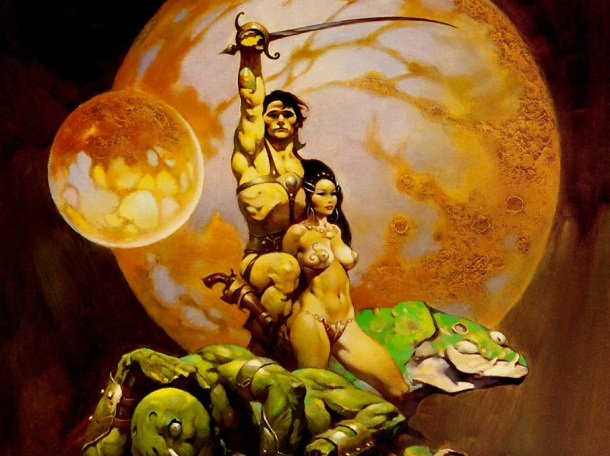 Cover art for a 1970s edition of A Princess of Mars