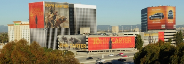 John Carter billboard building 405 ad campaign