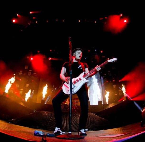 FALL OUT BOY SAVE ROCK AND ROLL FLAMES CONCERT