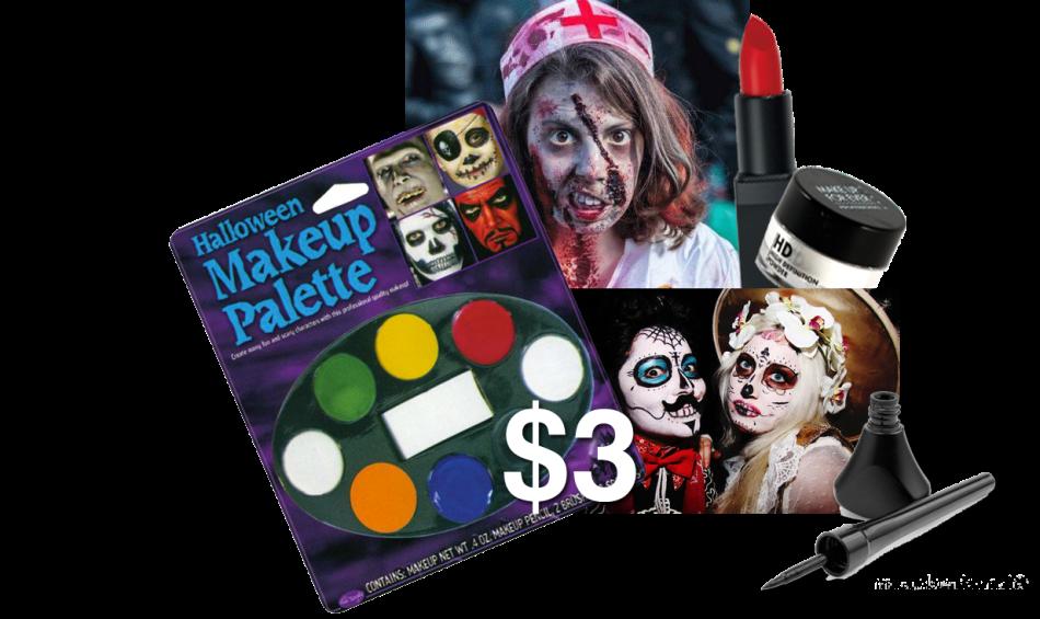 Halloween makeup graphic