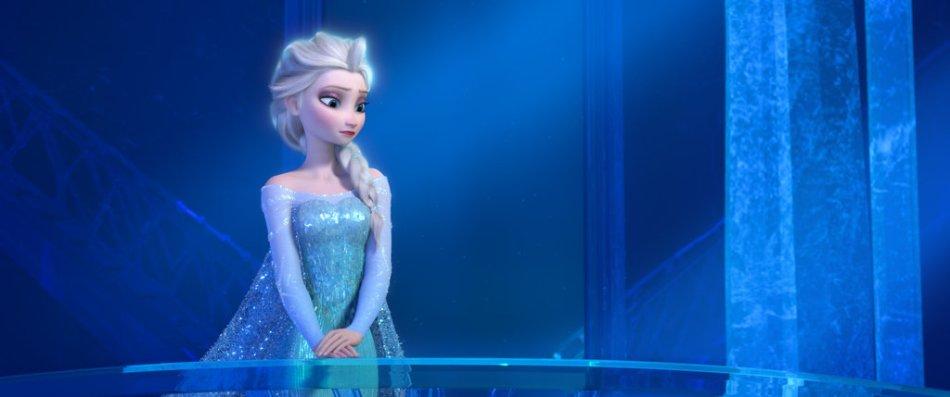 elsa frozen sad blue dress