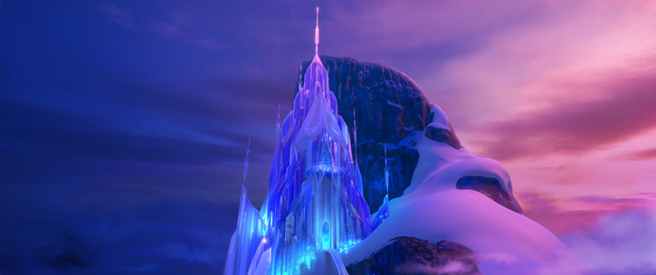 """FROZEN"" Elsa's ice palace. ©2013 Disney. All Rights Reserved."