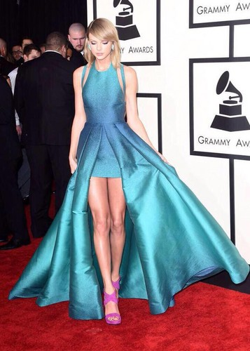 Taylor won the Best Dressed this year. You could see this dress from space.