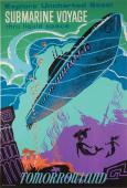 Tomorrowland Submarine Voyage Vintage Attraction Poster