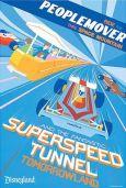 Tomorrowland Peoplemover Disneyland Vintage Attraction Poster