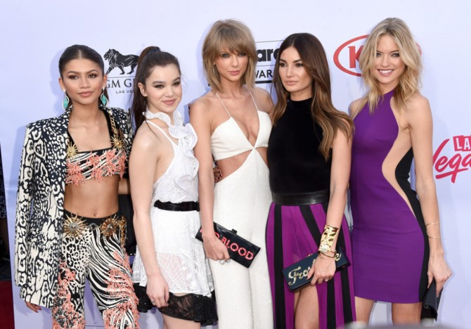 taylor swift with supermodels