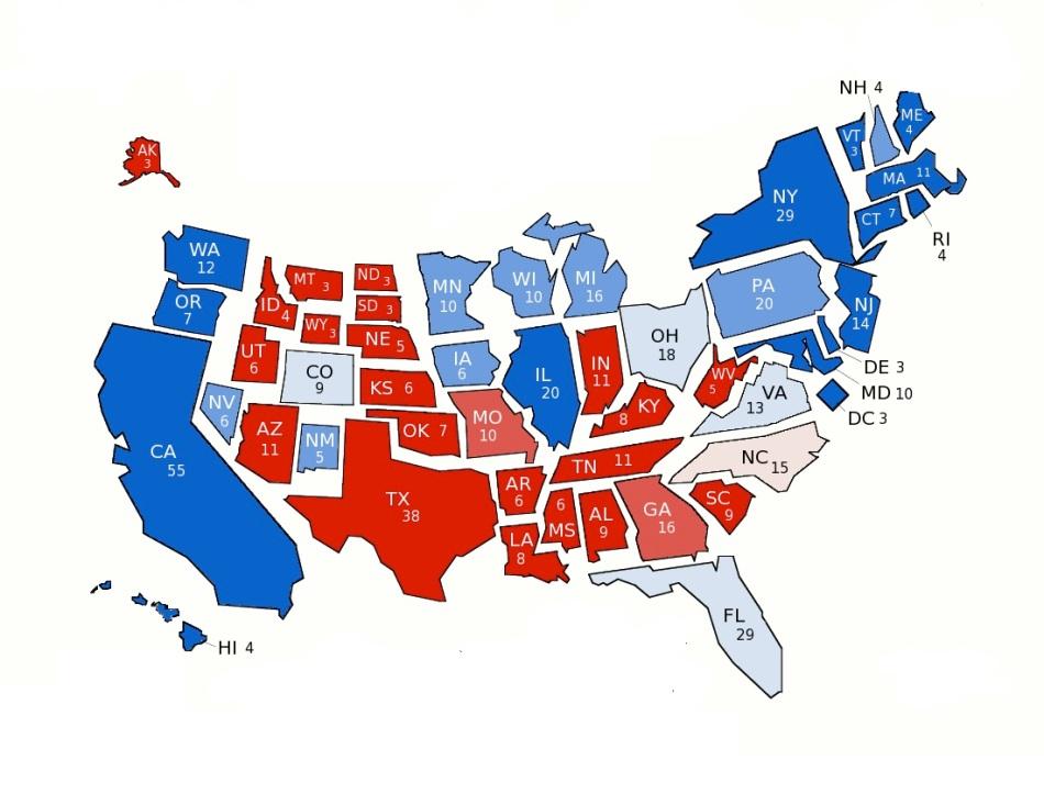 electoral college proportions