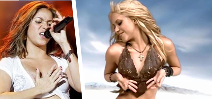 Shakira breats mountains whenever wherever