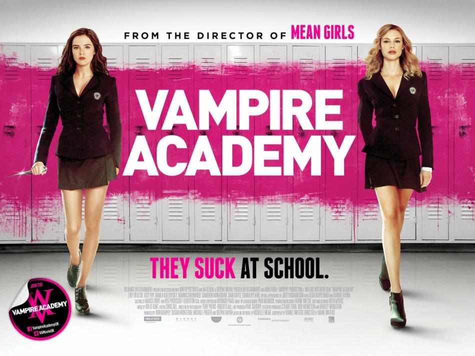 Vampire Academy suck a school banner