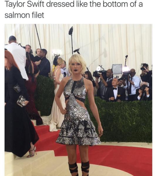 Taylor Swift salmon fillet