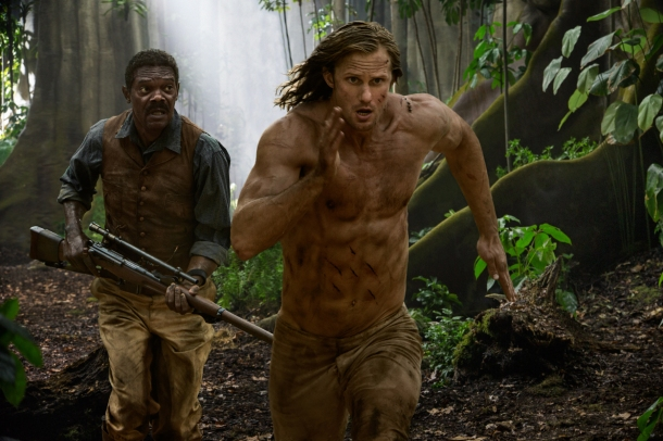 Legend of Tarzan Running Skarsgard Jackson
