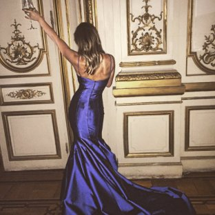No hustle without the bustle! JoJo shows off the back of her Randi Rham rose ceremony gown