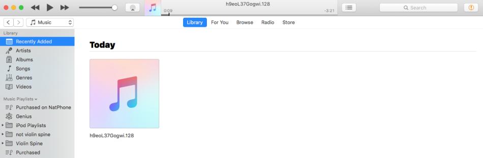 Generic iTunes Title