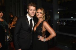 Miranda wears said gown, poses with new BF Anderson East