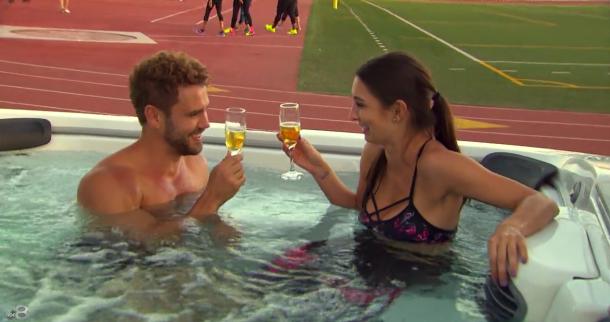 Astrid Nick Hot Tub The Bachelor