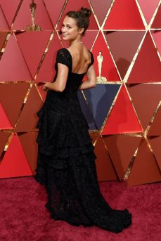 ★ Alicia Vikander showing some sexy back