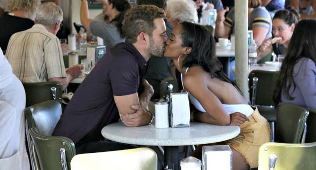 Nick and Rachel Cafe Du Monde New Orleans Kiss