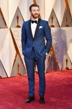 Captain America Chris Evans is true blue in Hugo Boss