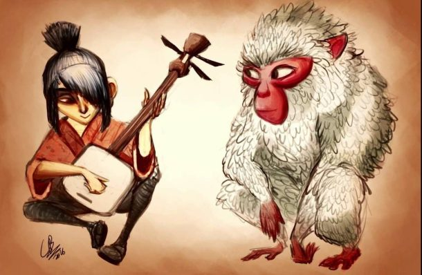 kubo and monkey fan art