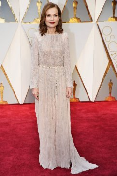 Best Actress nominee Isabelle Huppert in Armani Prive