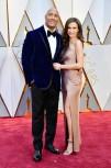 "Dwayne ""The Rock"" Johnson and wife Lauren Hashian look cuddly in blue velvet."