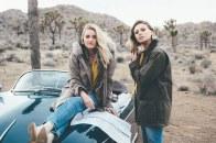 Aly & AJ desert car