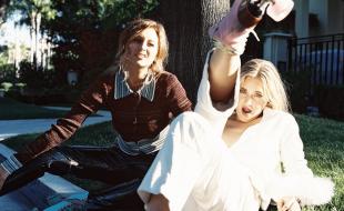 Aly & AJ Ten Years Photo Shoot Foot Up
