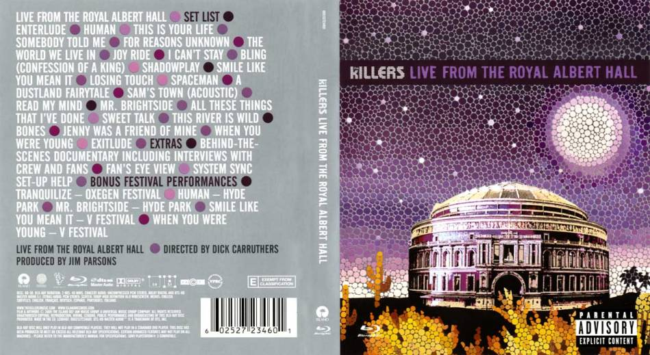 The Killers Live from the Royal Albert Hall Front & Back CD Jacket.jpg