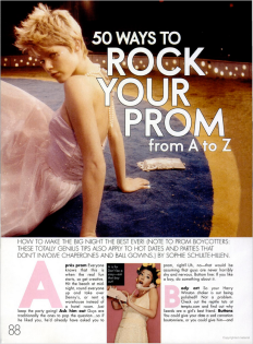 ELLE Girls 50 ways to rock your prom A-Z 2004