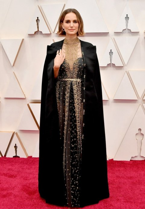 Natalie Portman embellished her cape with the first names of this year's female directors